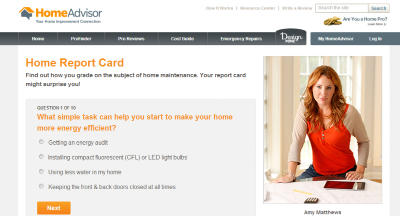 Home advisor 39 s home report card the fall home maintenance for Home advisor
