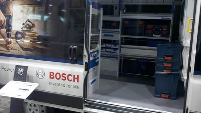 Bosch Loading Dodge Van @ 2013 Remodeling Show