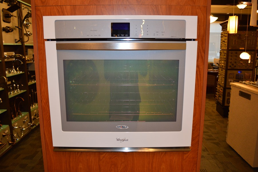 Whirlpool White Ice Wall Oven