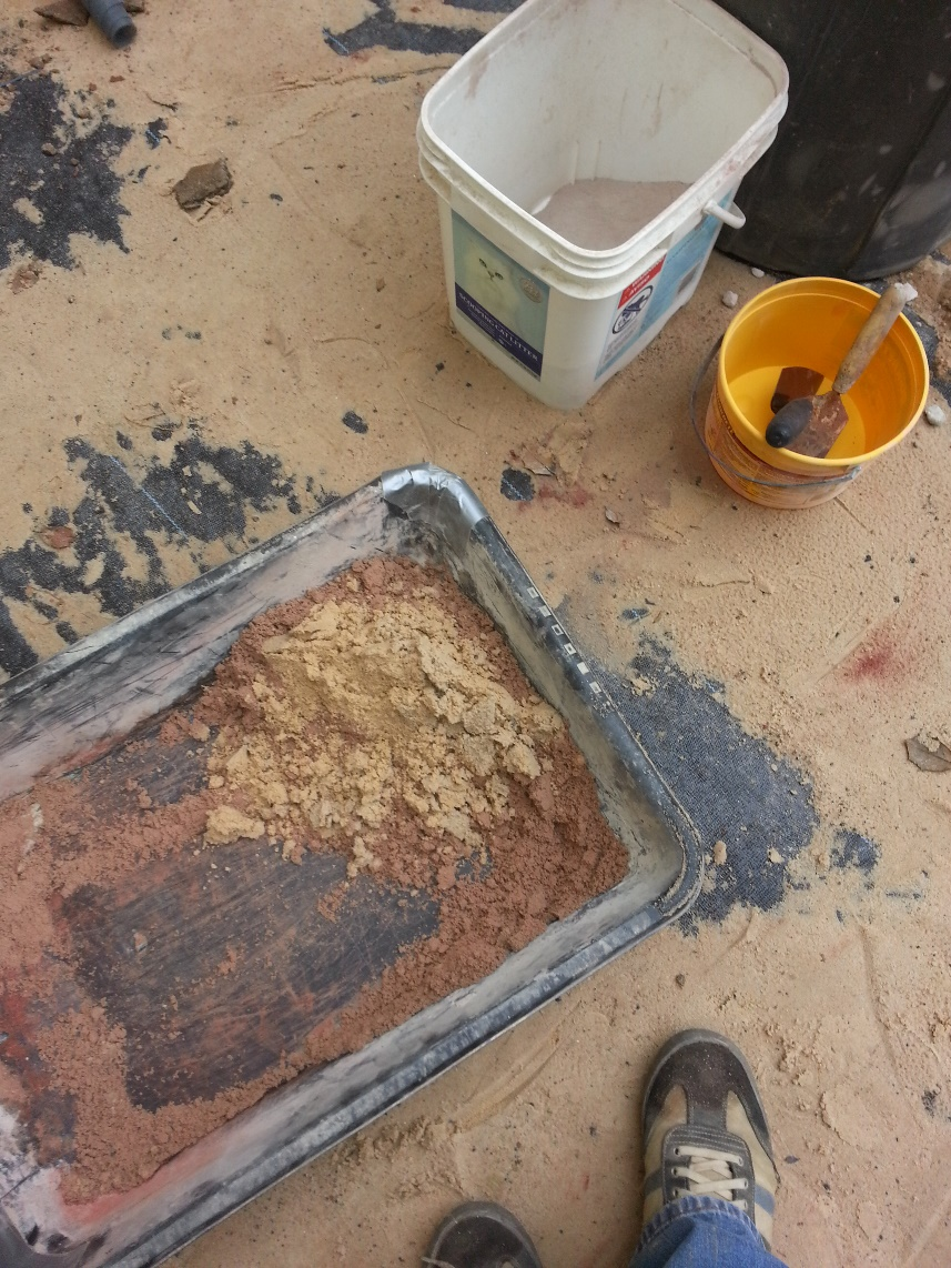 adding builders sand to mortar