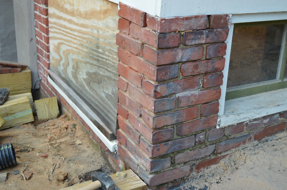brick compressing before