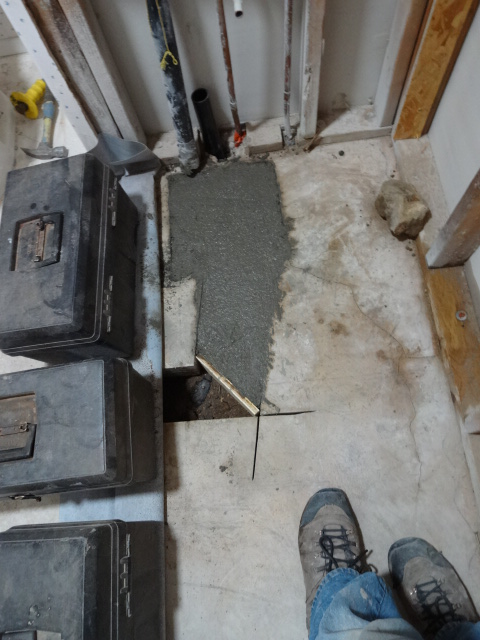 concrete replaced