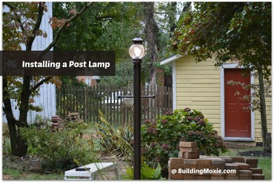 installing a post lamp after pin