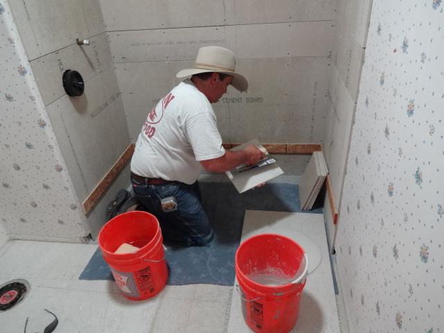 shower tiled