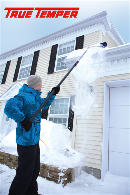 True Temper's Telescoping Roof Rake