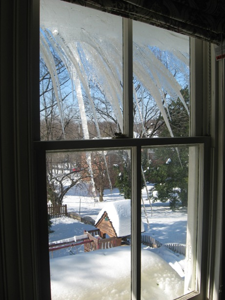 ice dam my house from inside