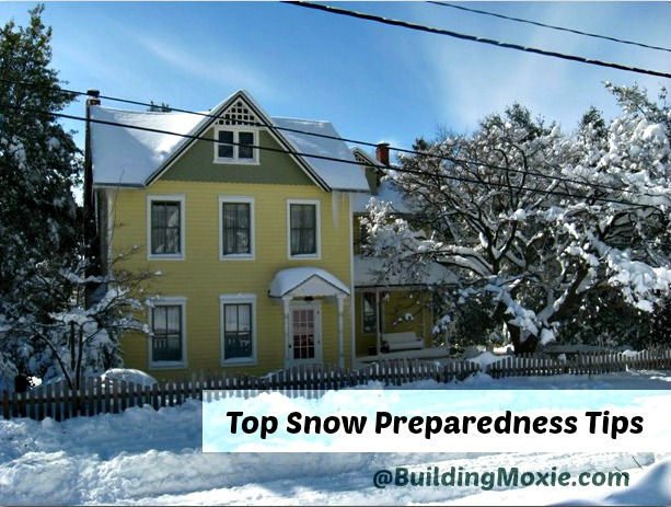 Prepare for Snow :: Victorian House in the Snow