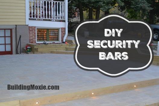 DIY Security Bars on a Basement Window