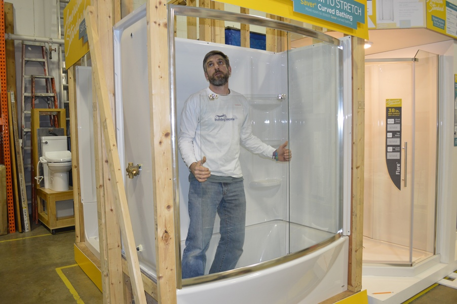Installing Shower Doors at American Standards Headquarters
