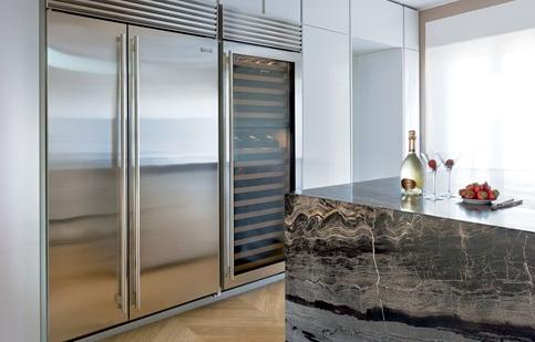 Luxury kitchens sub zero wolf poggenpohl tops on the strip