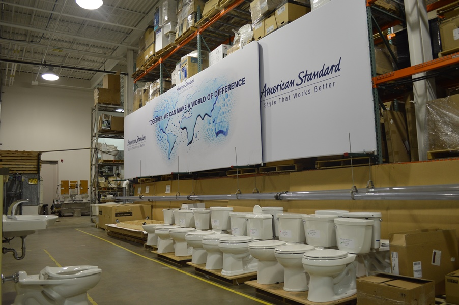 Toilets in American Standards Warehouse