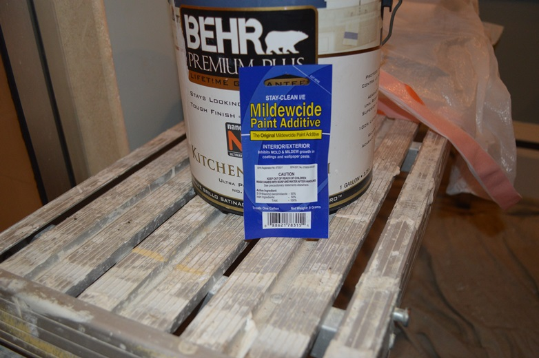 mildewcide paint additive