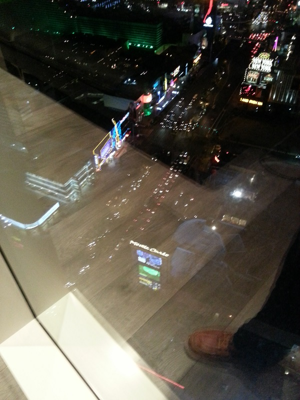 view of the Las Vegas Strip from the Mandarin Oriental