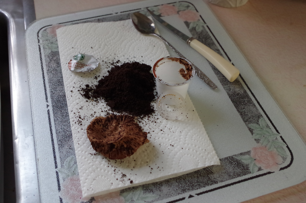 Image of disassembled plastic coffee pod.