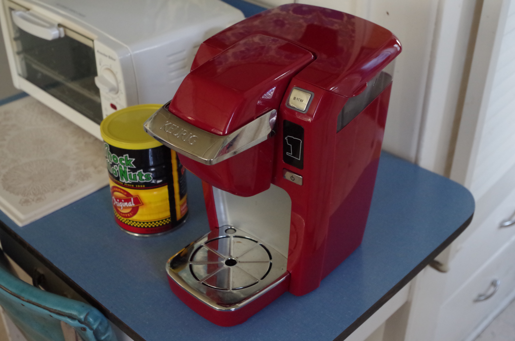 Image of Keurig single-serve coffee maker.