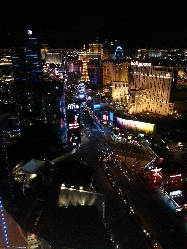vegas strip from the penthouse of the Mandarin Oriental