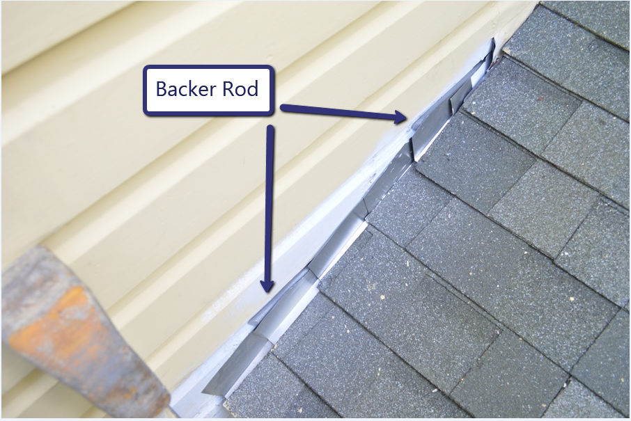 Backer Rod Behind Step Flashing