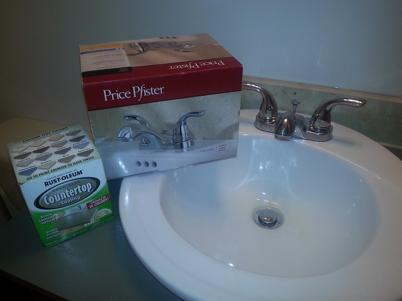 new vanity faucet after
