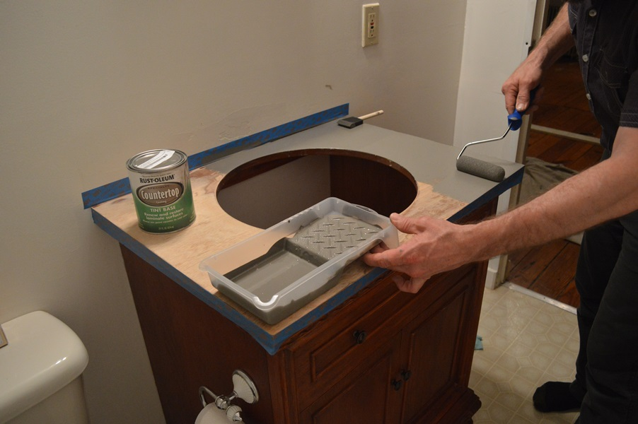 painting vanity top with countertop coating