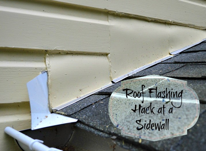 replacing roof flashing at a sidewall - Roof To Wall Flashing