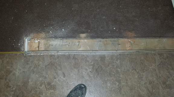 bottom plate removed from the wall