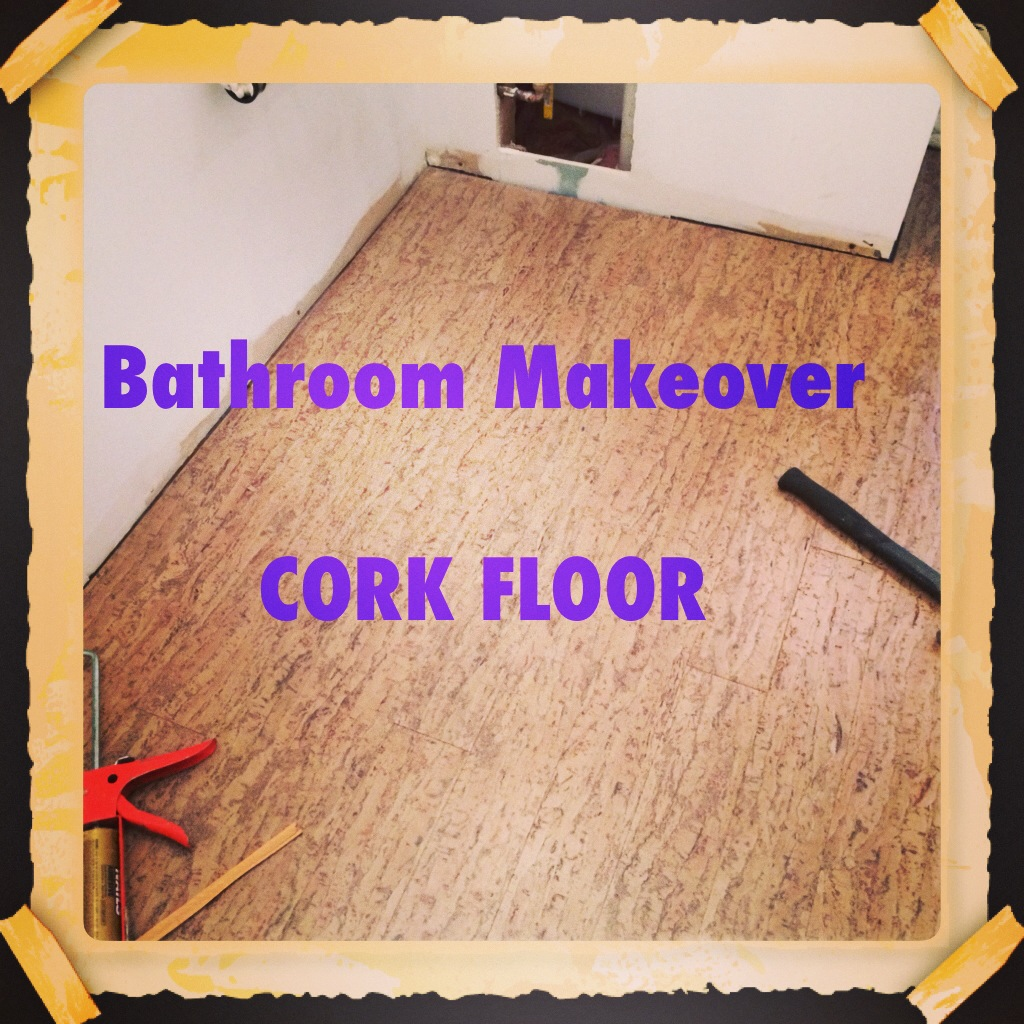 Using Cork Flooring In A Bathroom The Decor Girl - How to repair bathroom floor tile