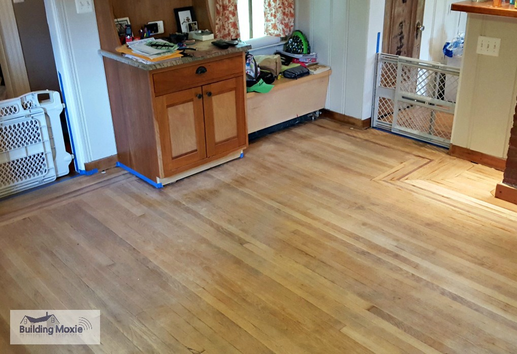 Kitchen Floor Sanded
