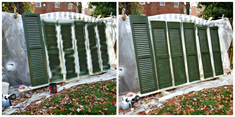 Shutters Sprayed at Paint Station
