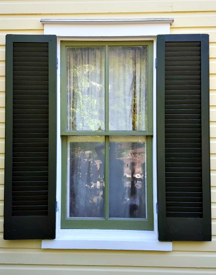 What to know about exterior functional wood window shutters exteriors for Exterior louvered window shutters