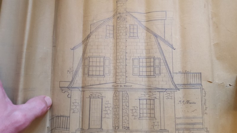 original plans show paneled shutters