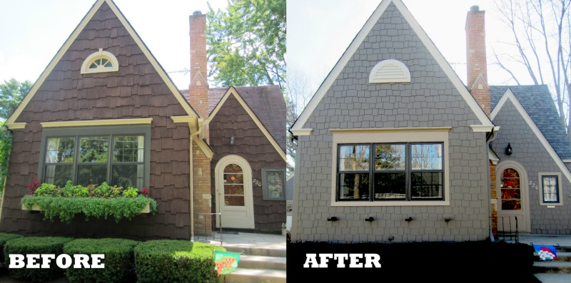 James Hardie Shingle Style Before After